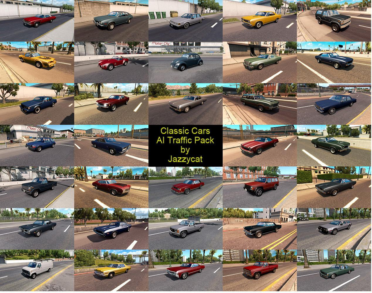 Classic Cars Ai Traffic Pack By Jazzycat V2 3 Ats Mod Euro Truck Simulator 2 Mods
