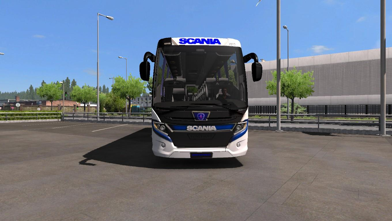 Seat Skins For Trucks >> SCANIA TOURING BUS NEW 4K SKIN AND UPDATE GLASS AND STICKER V3.0 MOD -Euro Truck Simulator 2 Mods