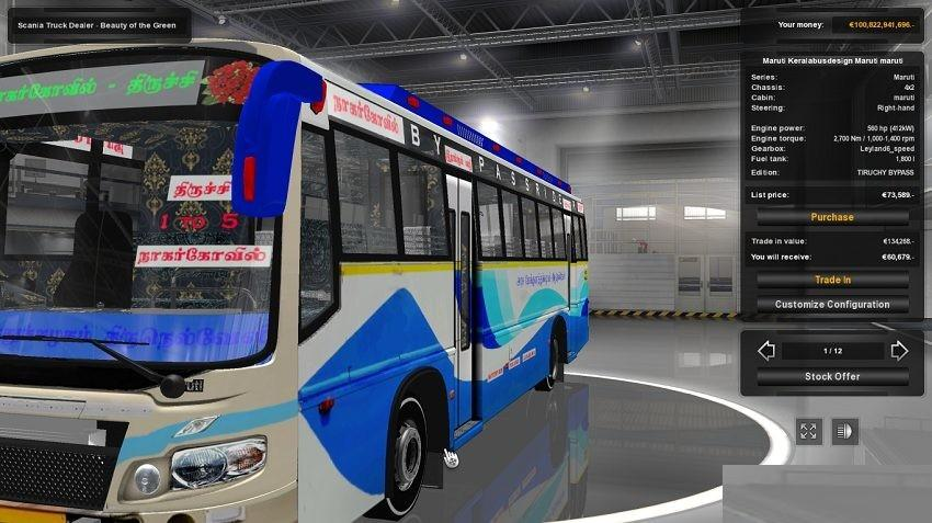 TNSTC NAGERCOIL TO TIRUCHY BUS MOD V1 0 ETS2 -Euro Truck