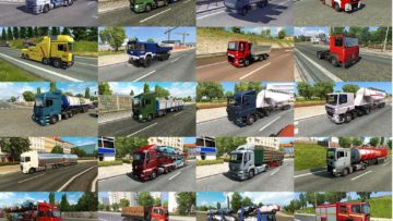 TRUCK TRAFFIC PACK BY JAZZYCAT V3 2 ETS2 -Euro Truck