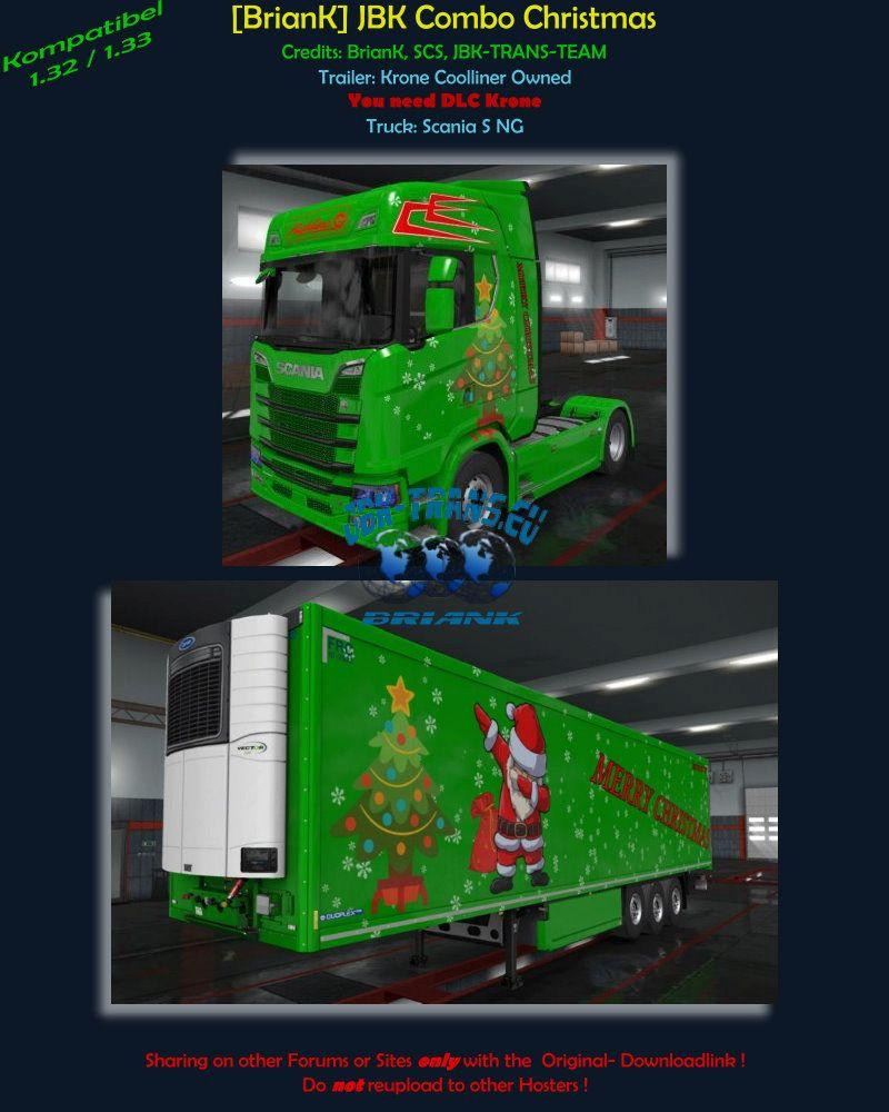 BRIANK] JBK CHRISTMAS COMBO 1 33 ETS2 -Euro Truck Simulator 2 Mods