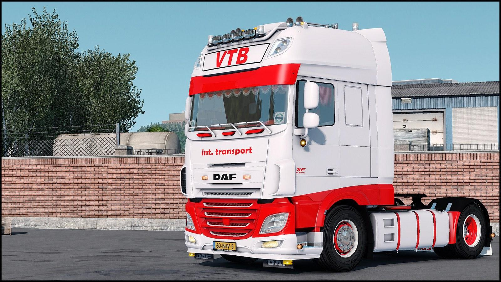 DAF EURO 6 VTB TRANSPORT 1 32&UP TRUCK MOD -Euro Truck