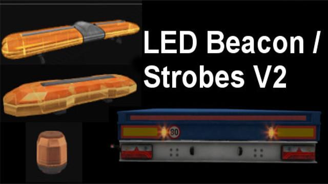 Led Strobe Lights For Trucks >> LED BEACON / STROBES V2.0 TUNING MOD -Euro Truck Simulator ...