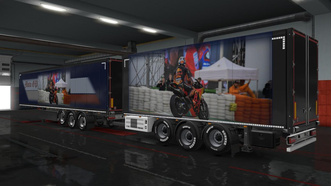 SKIN MOTORCYCLES - MOTOGP FOR ALL PURCHASED TRAILERS V3.0 ETS2 -Euro Truck Simulator 2 Mods