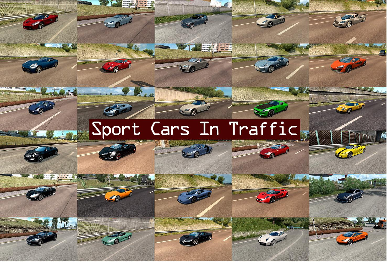 Sport Cars Traffic Pack By Trafficmaniac V2 4 Mod Euro