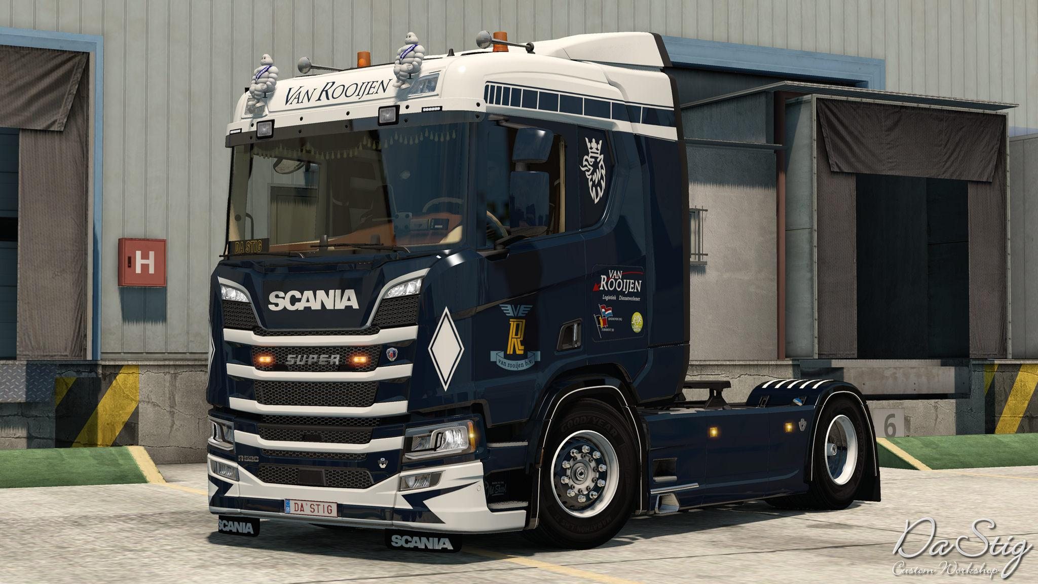 VAN ROOIJEN TRUCK SKIN FOR SCANIA NEXT GEN 1.33 -Euro ...