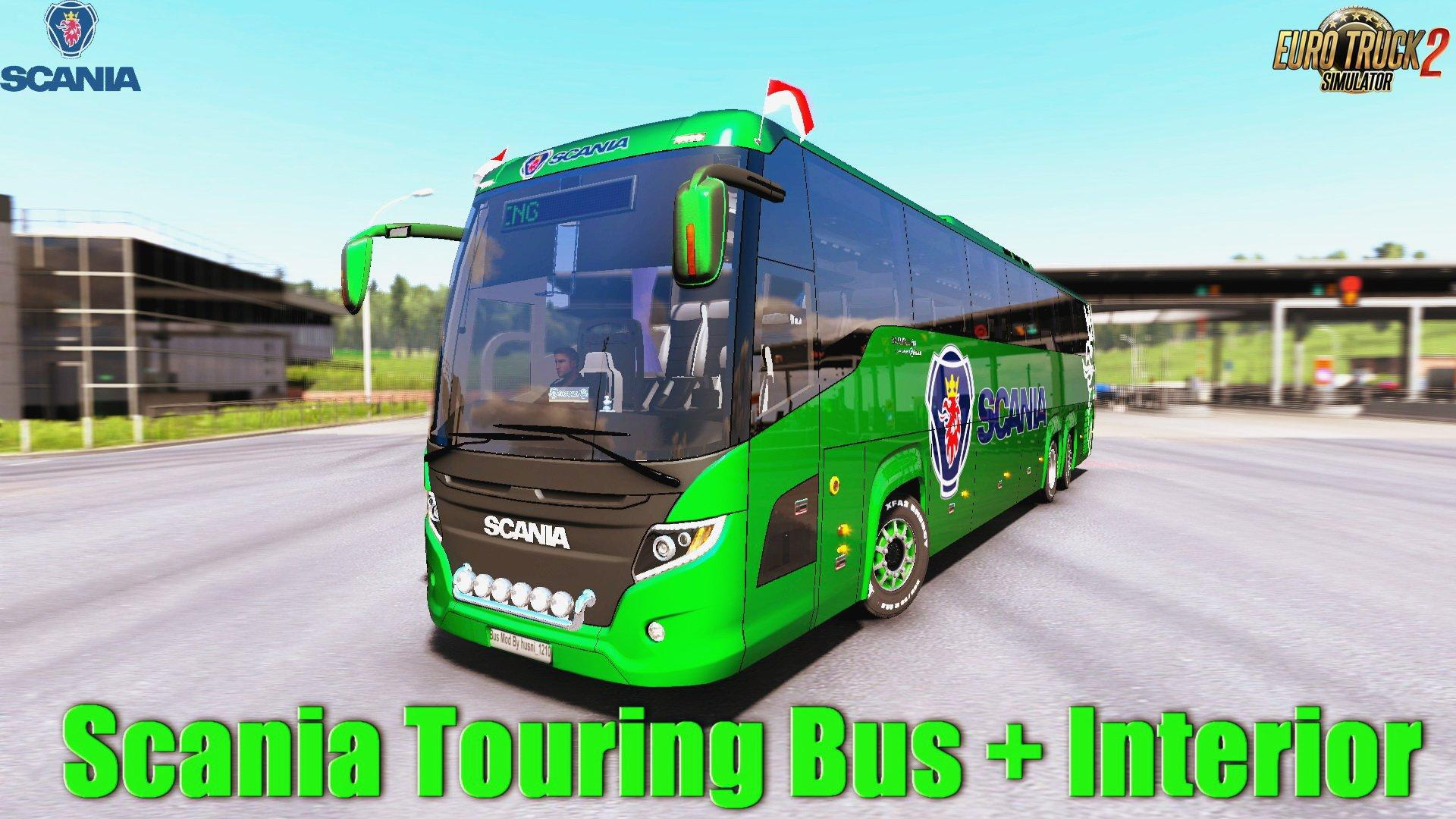 SCANIA TOURING FOR ETS2 1 34 BUS MOD -Euro Truck Simulator 2
