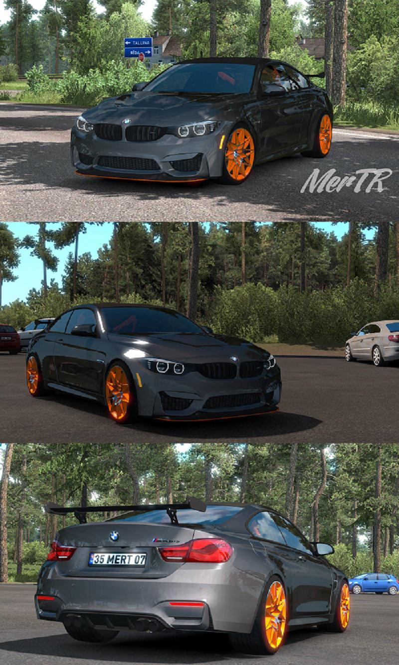 Bmw M4 Gts Coupe Rwd 2016 134x Car Mod Euro Truck Simulator 2 Mods