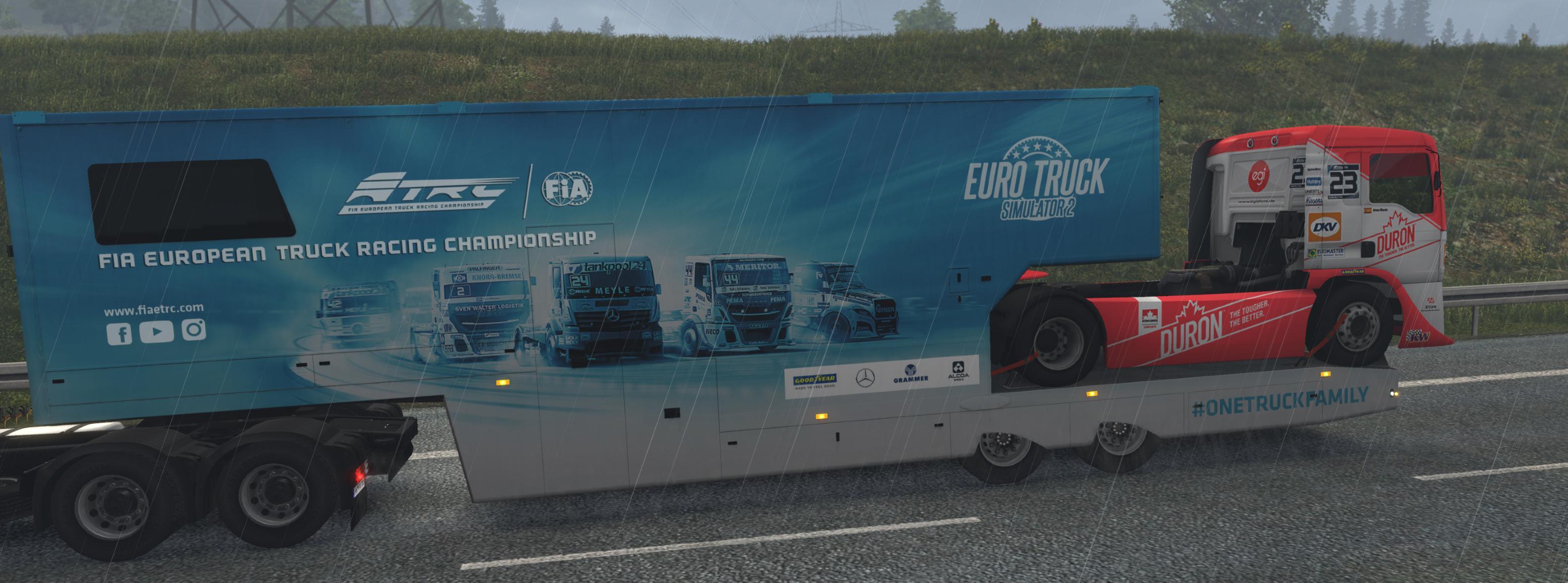 SCS ETRC TRAILERS IN TRAFFIC 1 34 X MOD -Euro Truck