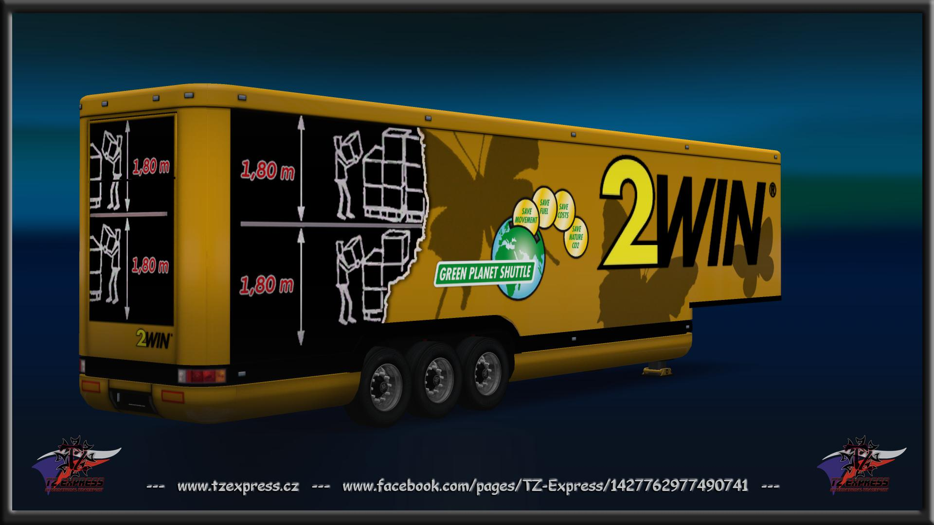 TZ TRAILERS PACK WITH OWNED ETS2 1 34 X MOD -Euro Truck