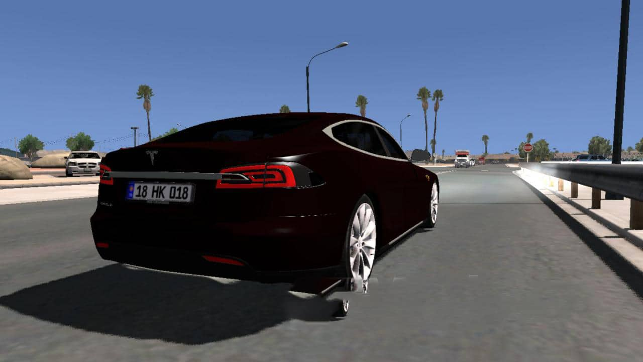 tesla model s 1 0 car euro truck simulator 2 mods. Black Bedroom Furniture Sets. Home Design Ideas