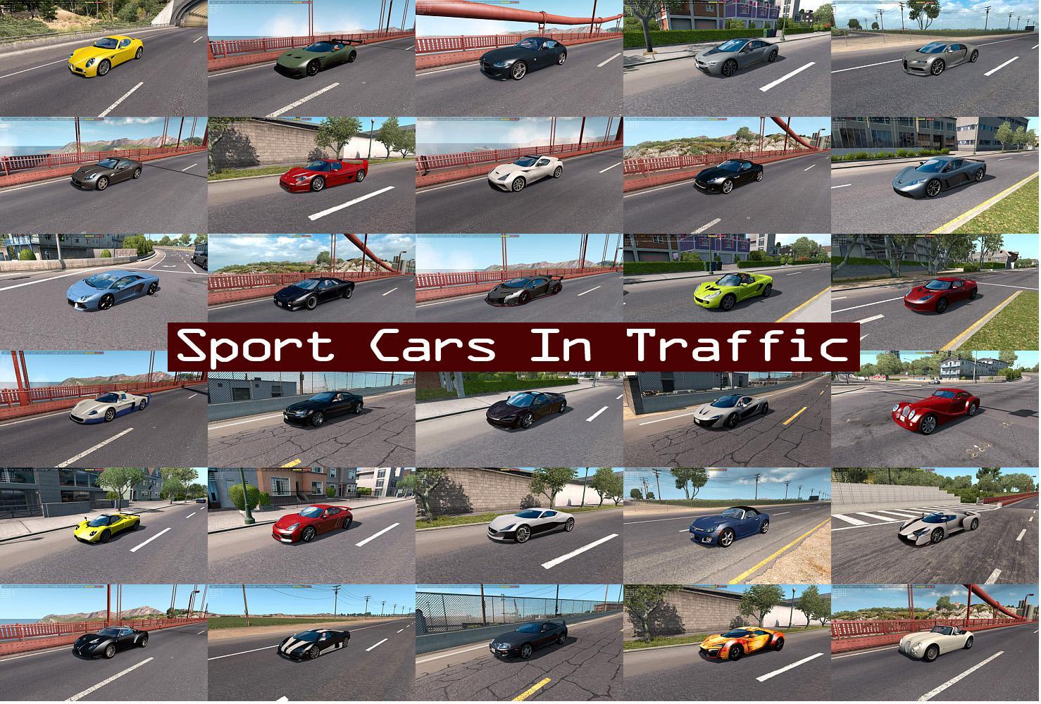 Sport Cars Traffic Pack Ats By Trafficmaniac V3 5 Mod