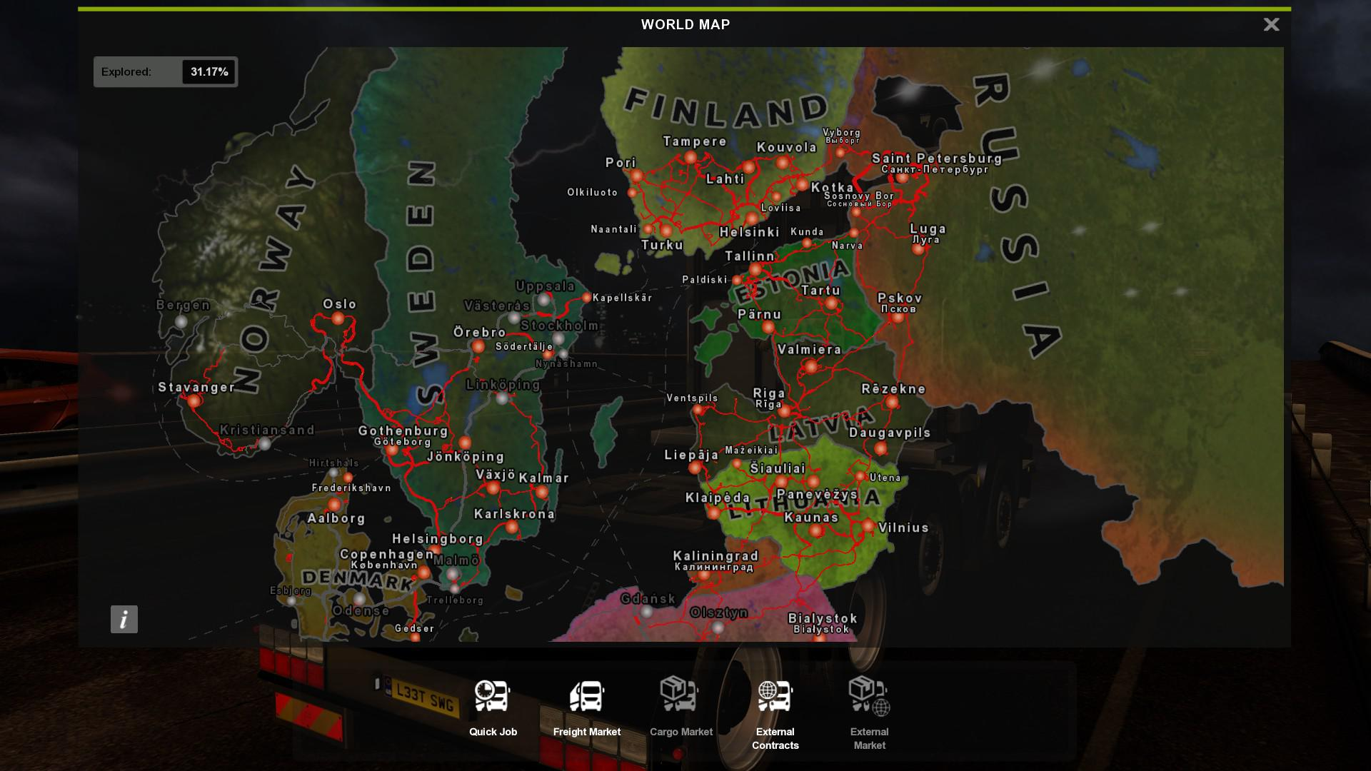 HOI 4 MAP COLORED FOR ETS2 V1 0 MOD 5 - ETS 2 Mods   Euro