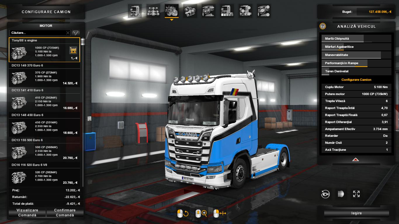 SCANIA S 1000 HP ENGINE 1 35 X TUNING MOD -Euro Truck Simulator 2 Mods
