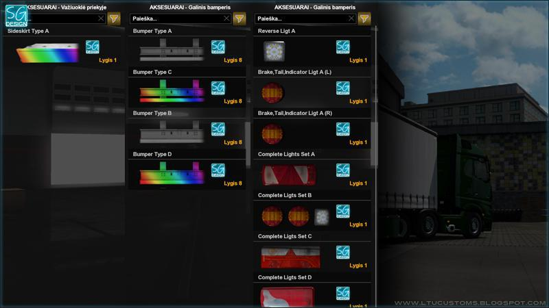 SCS TRAILER TUNING PACK V1 4 1 35 X TUNING MOD -Euro Truck