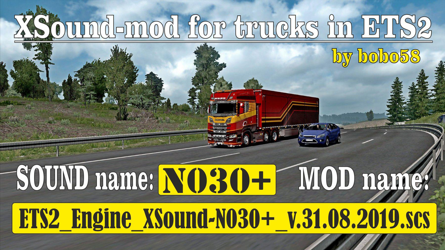 ETS2 ENGINE XSOUND N030+ 1 35 X MOD 2 - ETS 2 Mods | Euro