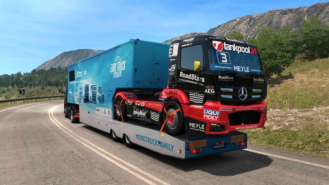 SCS ETRC TRAILERS IN AI TRAFFIC V1 2 MOD -Euro Truck Simulator 2 Mods